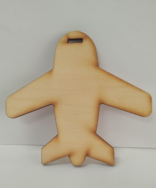 行李箱吊牌 【雷射雕刻】  [ 飛機 ]  (無圖樣)